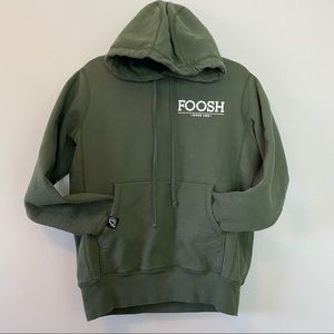 Foosh Army Green Hoodie Sweater Size Small Made In Canada